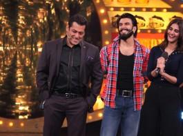 Photos of Ranveer Singh and Vaani Kapoor promote Befikre on Salman Khan's Bigg Boss 10 show