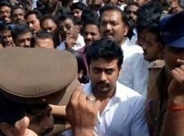 South Indian actor Suriya pays last respect to CM Jayalalithaa.