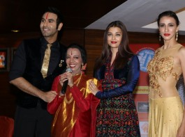 Actress Aishwarya Rai Bachchan, Dancer Lata Surendra, Model Alesia Raut and choreographer Sandip Soparrkar during 49th World Congress on Dance Research, in Mumbai on Dec 7, 2016.