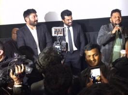 Telugu Movie Dhruva special screening held last night in US. Celebs like Ram Charan and Aravind Swamy spotted at special screening.