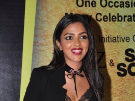 South Indian actress Amala Paul is posing for photographers at South Scope Lifestyle Awards 2016 Red Carpet.