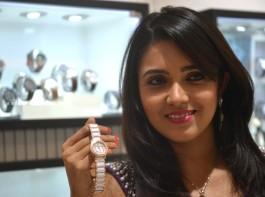 South Indian actress Meghana Raj during the inauguration of a watch and eyewear store in Bengaluru on Dec 29, 2016.