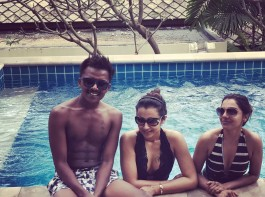 South Indian actress Trisha celebrates New Year in style.