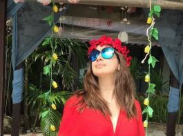 South Indian actress Raai Lakshmi's New Year Celebration in Beach.