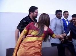 South Indian actress Simran meets Ilayathalapathy Vijay.