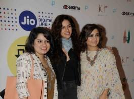 Haraamkhor special screening held at Mumbai on January 10, 2016. Celebs like Sarah Jane Dias, Vicky Kaushal, Shweta Tripathi, Imaad Shah, Sapna Pabbi, Shlok Sharma, Sumeet Vyas and others graced the event.