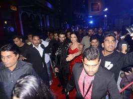 Bollywood actor Ranveer Singh and actress Deepika Padukone at xXx: Return of Xander Cage special screening.