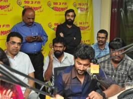 Telugu movie Nenu Local Single Song 'Next Enti Single' launch at Radio Mirchi in Hyderabad. Celebs like Nani, Bekkem Venugopal, Trinadha Rao Nakkina and others graced the event.