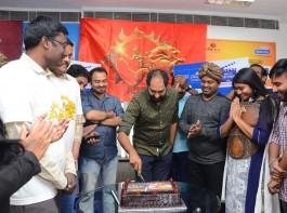 South Indian actress Shriya Saran and director Krish promote Gautamiputra Satakarni movie at Radio City 91.1 FM in Hyderabad.