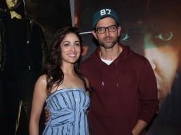 Bollywood actor Hrithik Roshan and actress Yami Gautam promote Kaabil.