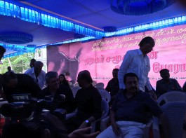 Superstar Rajinikanth at Nadigar Sangam Jallikattu protest.