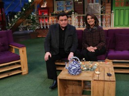 Bollywood actor Rishi Kapoor and Neetu Singh during the promotion of his autobiography, Khullam Khulla: Rishi Kapoor Uncensored on the sets of The Kapil Sharma Show in Mumbai on February 7, 2017.