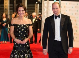 Britain's Prince William and Catherine, the Duchess of Cambridge arrive for the British Academy of Film and Television Awards (BAFTA) at the Royal Albert Hall in London, Britain, February 12, 2017.
