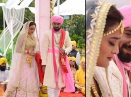 South Indian actress Nidhi Subbaiah and Lavesh Khairajani Wedding pictures.