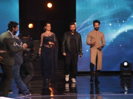 Celebs like Saif Ali Khan, Shahid Kapoor, Kangana Ranaut promote Rangoon on Indian Idol.