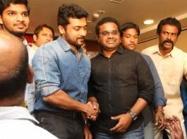 Telugu movie S3 (Yamudu 3) success meet held at Hyderabad. Celebs like Suriya, director Hari, producer Malkapuram Shivakumar and others graced the event.