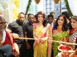 South Indian Actress Kajal Aggarwal launches Trisha Designer Store at Banjara Hills in Hyderabad.