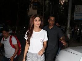 Bollywood actress Shilpa Shetty spotted at Bandra.