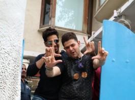 Sidharth Malhotra and Dabboo Ratnani spotted at olive bar in Bandra.