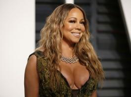 Hollywood singer Singer Mariah Carey at Oscars Vanity Fair Party.