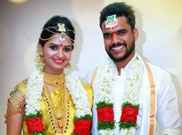 South Indian Actress Anandhi who acted in films like STR's Vaalu and Bala's Thaarai Thappattai entered wedlock with a businessman Ajay in Andhra.