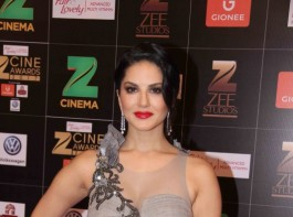 Bollywood actress Sunny Leone spotted during the Fair & Lovely Zee Cine Awards 2017 in Mumbai on March 11, 2017.