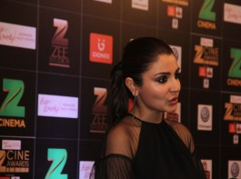 Bollywood actress Anushka Sharma spotted during the Fair & Lovely Zee Cine Awards 2017 in Mumbai on March 11, 2017.