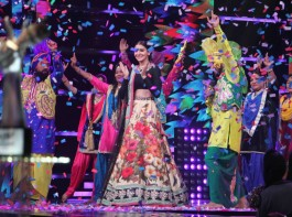 Bollywood actress Anushka Sharma promotes Phillauri on The Voice of India.