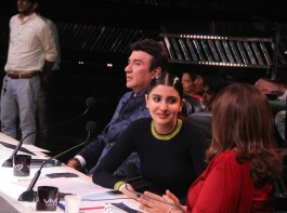 Bollywood actress Anushka Sharma promotes Phillauri on Indian Idol season 9.