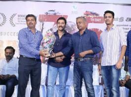 Tamil movie Dhuruvangal Pathinaaru (D-16) 75th Day Thanks Meet event held at Chennai. Celebs like Rahman, Gautham Menon, KE Gnanavel Raja, Ashwin Kumar, Prakash Vijayaraghavan, Pradheep, Sharath Kumar, Santhosh Krishna, Yashika Anand, Anjana Jayaprakash, Vinod Varma, Kunal Kaushik, Karthikeyan, Praveen, Delhi Ganesh, Karthick Naren, Rajasekar Pandian, SM Sivakumar and others graced the event.