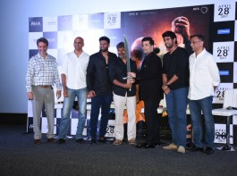 Presenting yet another tease to the mystery of Baahubali's death at the hands of the loyal Kattapa, director SS Rajamouli displayed the iconic sword and handed over the same to producer Karan Johar during the event.