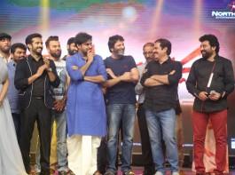 Telugu movie Katamarayudu Pre-Release event held at Hyderabad. Celebs like Pawan Kalyan, Trivikram Srinivas, Kishore Kumar Pardasani, Anup Rubens, Sharath Marar, Madhumitha, Siva Balaji, Ramajogaiah Sastry, Chaitanya Krishna, Bandla Ganesh Babu, Ajay, Dhanunjay, AM Rathnam, Manasa Himavarsh, Ali, Suma and others graced the event.