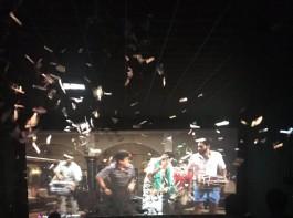 Actor Pawan Kalyan fans celebrate Katamarayudu movie release.