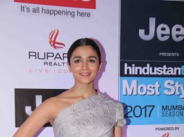 Bollywood actress Alia Bhatt spotted during the HT Most Stylish Awards in Mumbai on March 24, 2017.