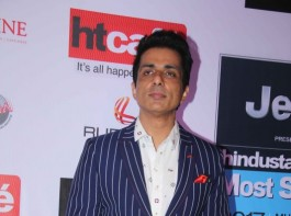 Bollywood actor Sonu Sood spotted during the HT Most Stylish Awards in Mumbai on March 24, 2017.