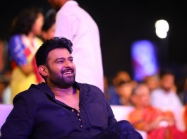 Baahubali 2: The Conclusion movie Pre Release event held at Ramoji Film City in Hyderabad. Actor Prabhas spotted suring the event.