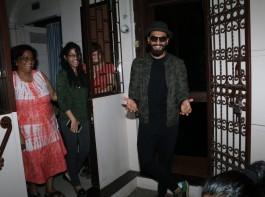 Bollywood actor Ranveer Singh spotted at Shankar Mahadevan studio.