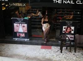 Bollywood actress Malaika Arora Khan spotted at tip top Bandra in Mumbai.
