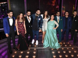 Bollywood actress Sonakshi Sinha spotted during the promotion of film Noor and Nach Baliye integration on the sets Star Plus singing reality show Dil Hai Hindustani in Mumbai on March 31, 2017.