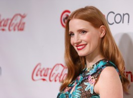 Actor Jessica Chastain poses on the red carpet during CinemaCon, a convention of movie theater owners, in Las Vegas, Nevada.