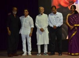 Late.Chandra Haasan Memorial Meet held at Kamaraj Arangam in Chennai. Celebs like Rajinikanth, Kamal Hassan, Sathyaraj, Nasser, Vishal, KS Ravikumar, Charuhasan, Ilaiyaraaja, Madhan, Pyramid Natarajan, Crazy Mohan, SS Stanley, Uma Padmanabhan, MS Bhaskar, Lissy, G. Gnanasambandam, Ajay Rathnam and others graced the event.