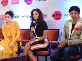 Tennis player Sania Mirza inaugurates The Label Bazaar Gallery on April 15th at Hotel Taj Coromandel in Chennai.
