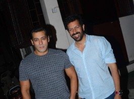 Bollywood actor Salman Khan and Tubelight director Kabir Khan strike a pose for the paps.