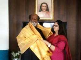 Yesteryear leading south Indian actress and All India Mahila Congress General Secretary Nagma recently met her Baasha co-star Rajinikanth at his Poes Garden residence in Chennai.