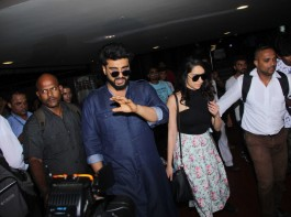 Bollywood actor Arjun Kapoor and actress Shraddha Kapoor, who will be seen together in 'Half Girlfriend', were recently spotted at the airport.