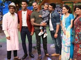 Team The Kapil Sharma Show with Suresh Raina, Shikhar Dhawan & Hardik Pandya on The Kapil Sharma Show.