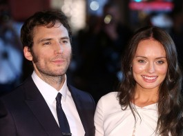 Actor Sam Claflin and Laura Haddock at the World Premiere of 'My Cousin Rachel' at Picturehouse Central on June 7, 2017 in London, England.