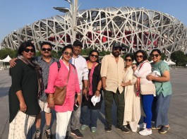 Megastar Chiranjeevi, who has been out of the country for over a week, bonded with colleagues from yesteryear on a trip to China. Actress Radikaa Sarath Kumar, who was also part of the trip tweeted the pictures on Thursday.