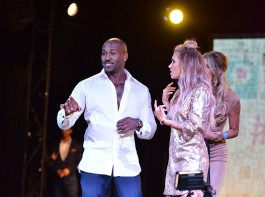 Dolvett Quince and Eden Sassoon attend the Susan G. Komen LA presents 'Babes For Boobs' Live Bachelor Auction (#BABESFORBOOBS) at El Rey Theatre on June 8, 2017 in Los Angeles, California.