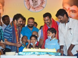Actor Nandamuri Taraka Ratna atteneds Nandamuri Balakrishna birthday celebrations organised by Balakrishna fans, also fans donated blood.